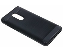 Zwart Brushed TPU case Xiaomi Redmi Note 4