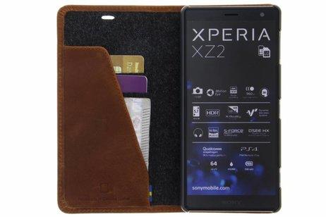 Krusell Sunne Folio Wallet Booktype voor Sony Xperia XZ2 - Bruin