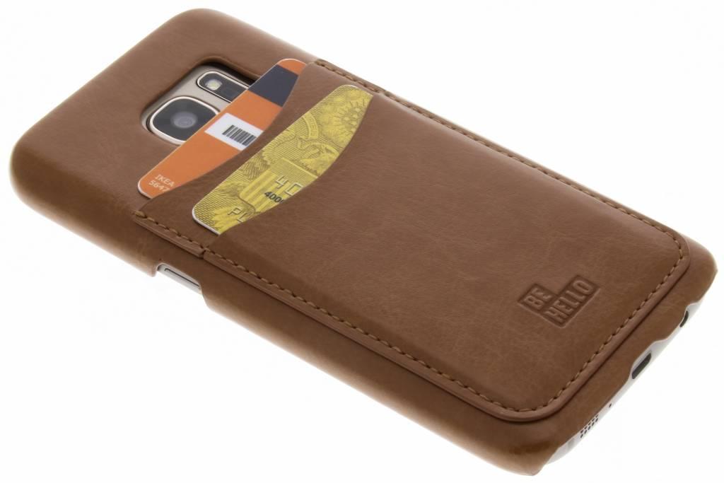 Be Hello Card Backcover voor Samsung Galaxy S7 - Bruin