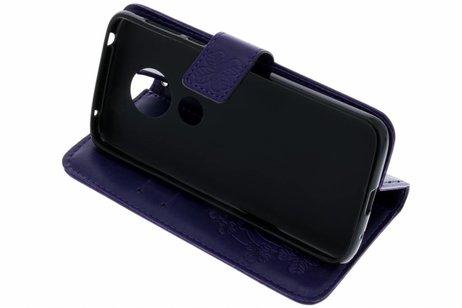 Klavertje Bloemen Booktype voor Motorola Moto E5 / G6 Play - Paars