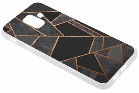 Design Backcover voor Samsung Galaxy A6 (2018) - Grafisch Zwart / Koper