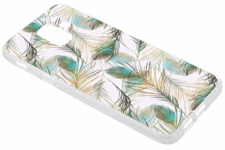 Design Backcover voor Samsung Galaxy A6 (2018) - Pauw Goud