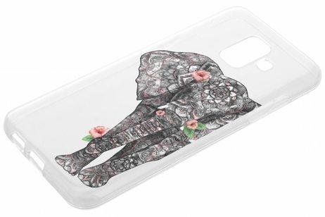 Design Backcover voor Samsung Galaxy A6 (2018) - Aztec Elephant
