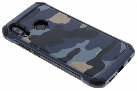 Army Defender Backcover voor Huawei P20 Lite - Blauw