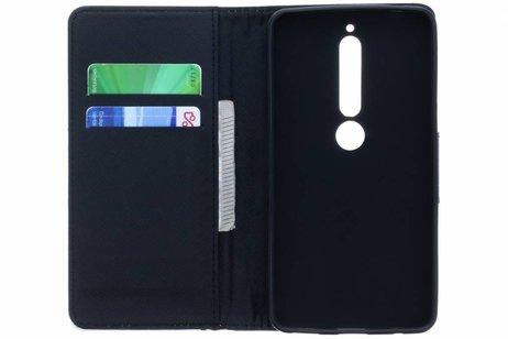 Design Softcase Booktype voor Nokia 6.1