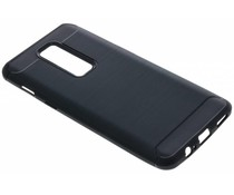 Zwart Brushed TPU case OnePlus 6