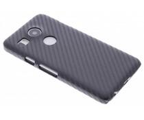Zwart Carbon look hardcase hoesje LG Nexus 5X