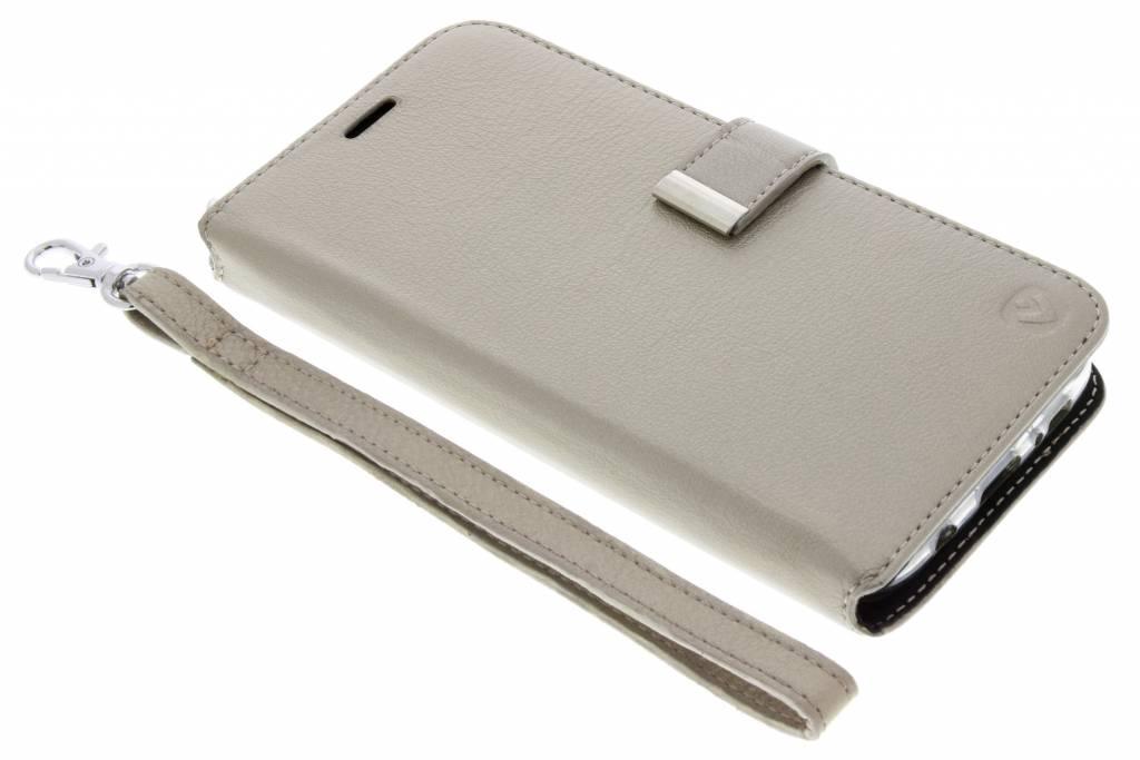 Valenta Gouden Booklet Premium Handstrap voor de Samsung Galaxy S7 Edge