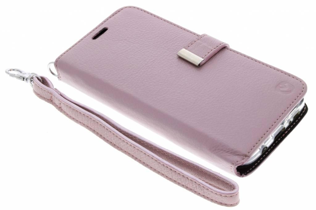 Valenta Rosé Gouden Booklet Premium Handstrap voor de Samsung Galaxy S7 Edge