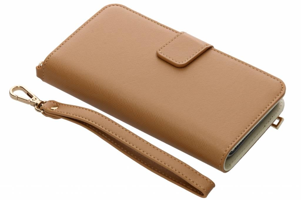 Selencia Bruine Wallet Case voor de iPhone 8 Plus / 7 Plus