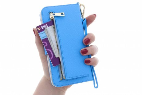 Selencia Wallet Booktype voor iPhone 8 / 7 / 6s / 6 - Blauw
