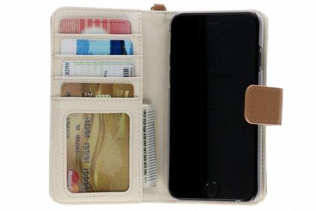 Selencia Wallet Booktype voor iPhone 8 / 7 / 6s / 6 - Bruin