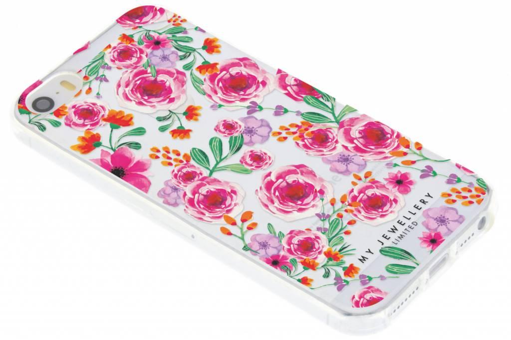 My Jewellery Pink Flowers Design Soft Case voor de iPhone 5 / 5s / SE