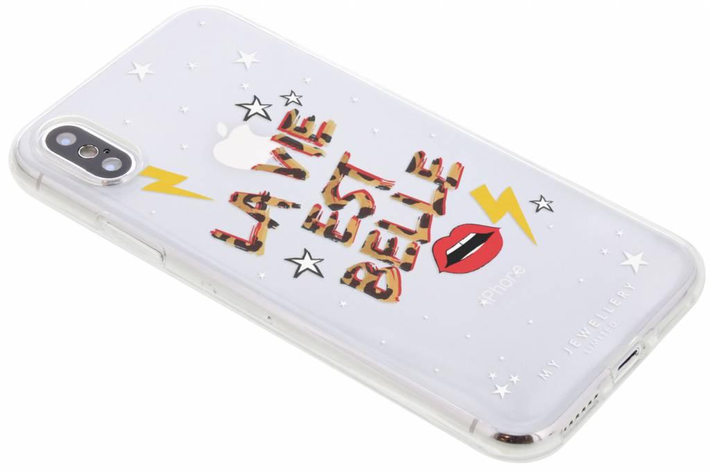 My Jewellery La Vie est Belle Design Soft Case voor de iPhone Xs / X