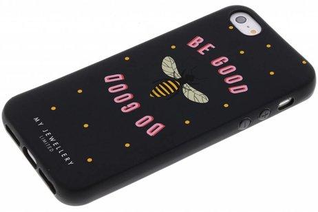 My Jewellery Design Backcover voor iPhone SE / 5 / 5s - Be Good Do Good Zwart
