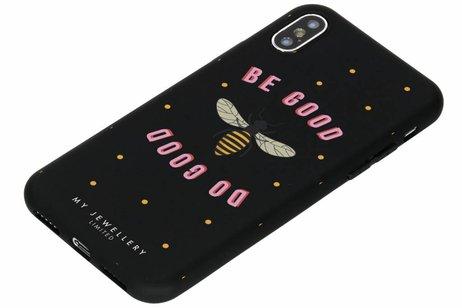 My Jewellery Design Backcover voor iPhone X / Xs - Be Good Do Good Zwart