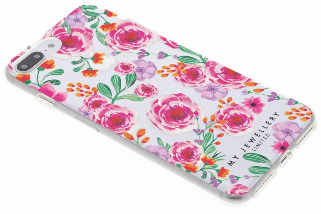 My Jewellery Pink Flowers Design Soft Case voor de iPhone 8 Plus / 7 Plus