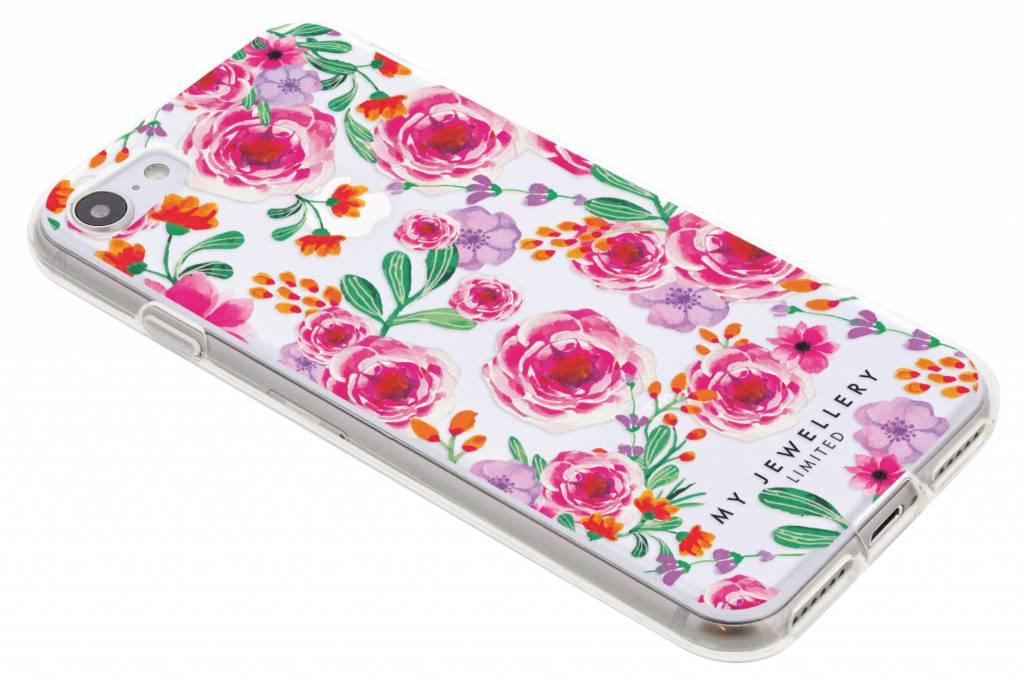 My Jewellery Pink Flowers Design Soft Case voor de iPhone 8 / 7