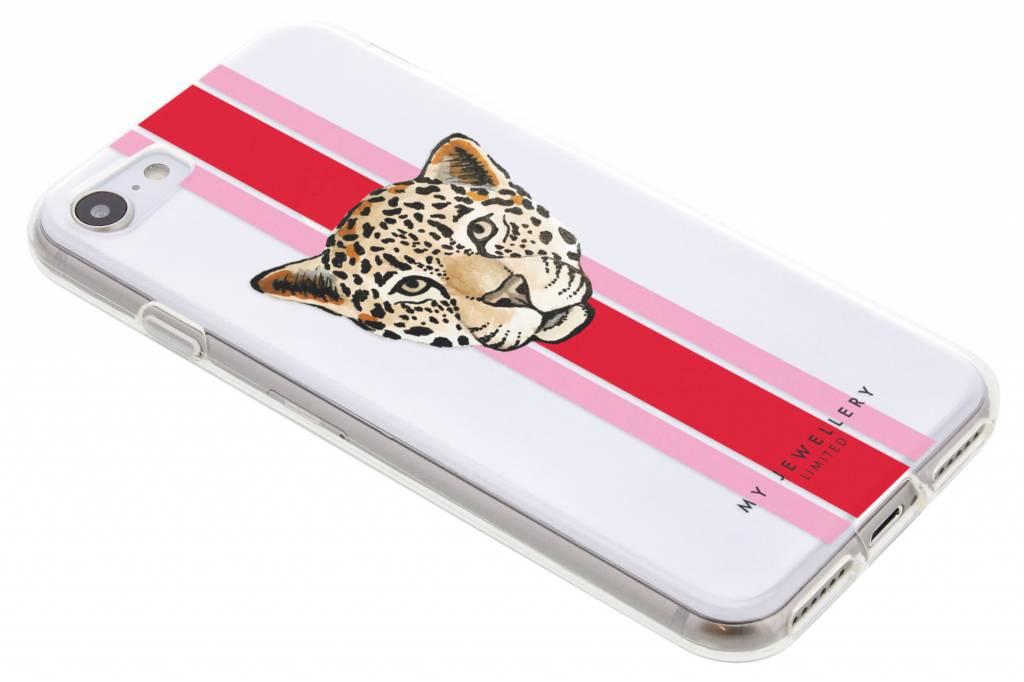My Jewellery Design Backcover voor iPhone 8 / 7 - Leopard Rood