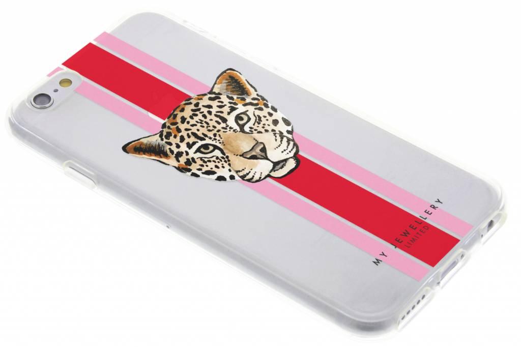My Jewellery Leopard Red Design Soft Case voor de iPhone 6 / 6s