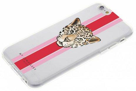 My Jewellery Design Backcover voor iPhone 6 / 6s - Leopard Rood