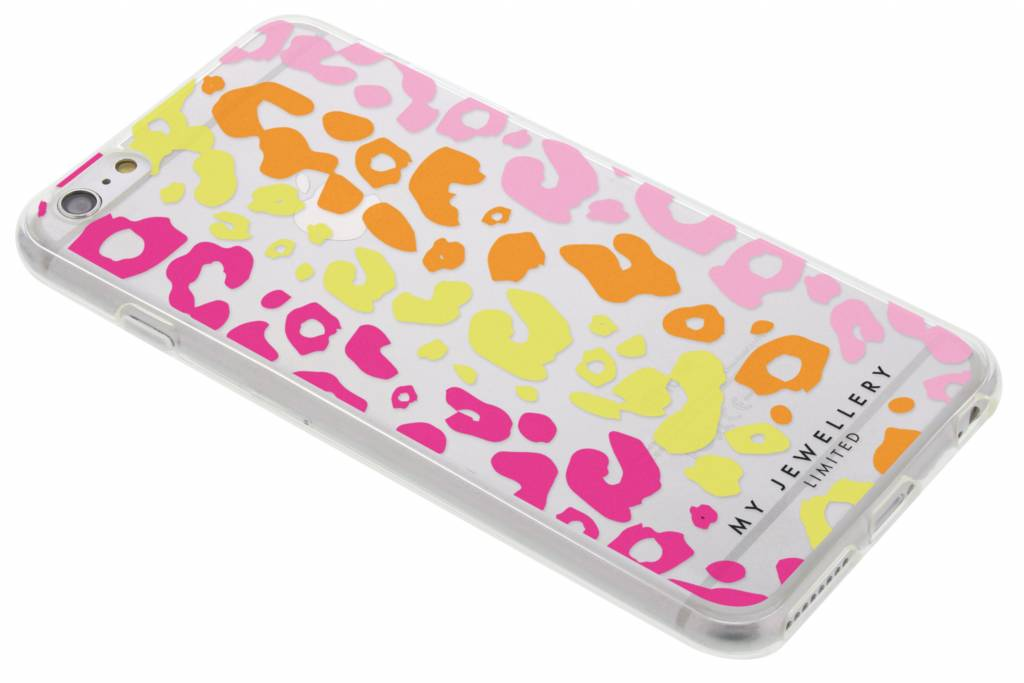 Colored Panther Design Soft Case voor de iPhone 6(s) Plus