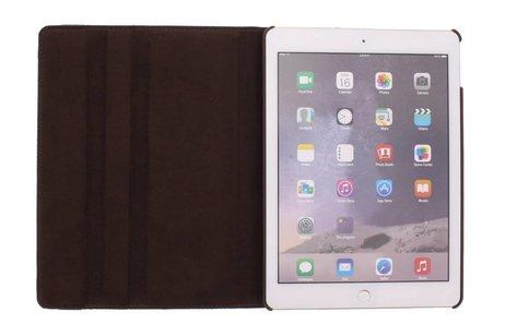 360° Draaibare Bookcase voor iPad Air 2 - Bruin