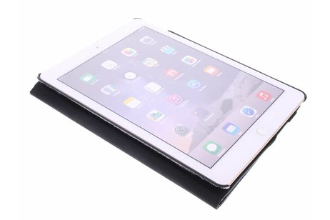 360° Draaibare krokodil Bookcase voor iPad Air 2 - Zwart