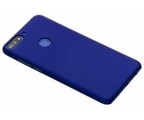 Blauw effen hardcase hoesje Huawei Y7 (2018)