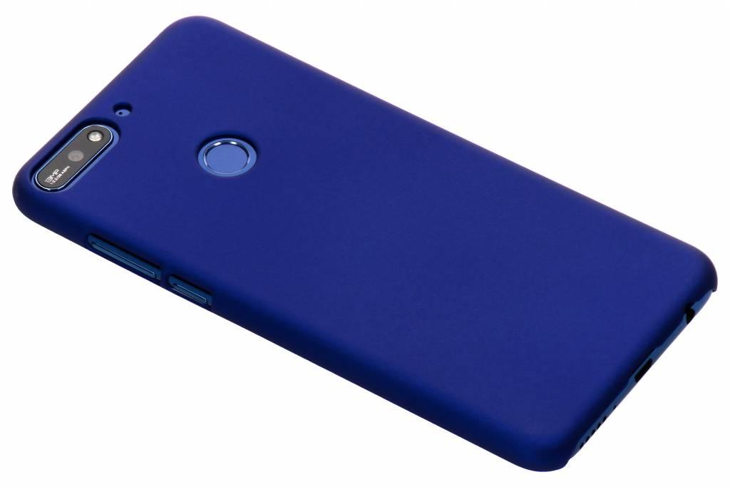 Blauw effen hardcase hoesje voor de Huawei Y7 (2018)
