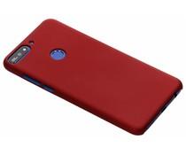 Rood effen hardcase hoesje Huawei Y7 (2018)