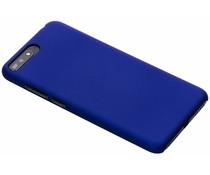 Blauw effen hardcase hoesje Huawei Y6 (2018)