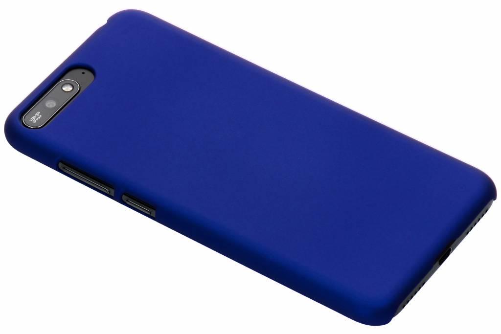 Blauw effen hardcase hoesje voor de Huawei Y6 (2018)