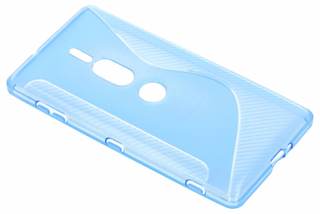 S-line Backcover voor Sony Xperia XZ2 Premium - Blauw