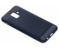 Donkerblauw Brushed TPU case Samsung Galaxy A6 (2018)
