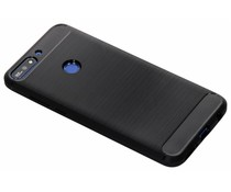 Zwart Brushed TPU case Huawei Y7 (2018)