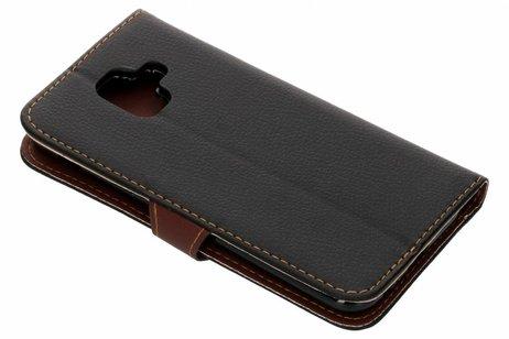 Blad Design Booktype voor Samsung Galaxy A6 (2018) - Zwart