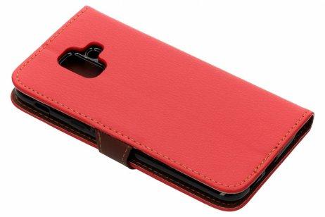 Blad Design Booktype voor Samsung Galaxy A6 (2018) - Rood