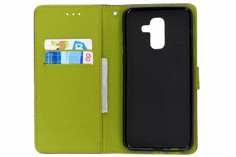 Samsung Galaxy A6 Plus (2018) hoesje - Blad Design Booktype voor