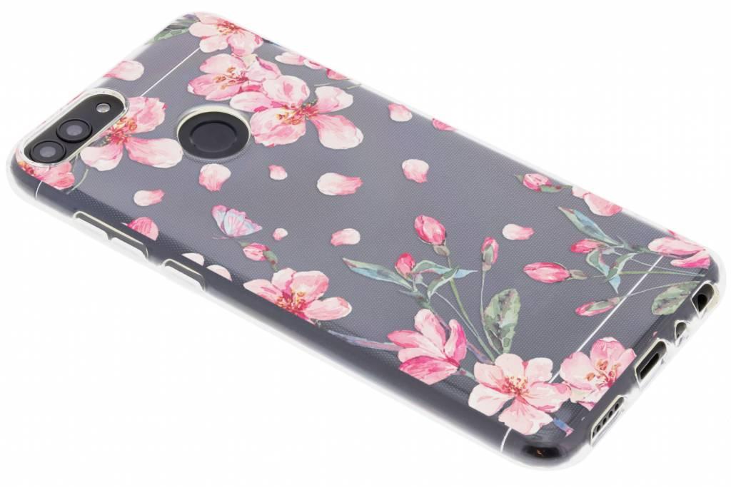 Bloesem Watercolor TPU hoesje voor de Huawei P Smart