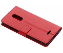 Rood TPU Bookcase Alcatel 3C