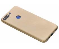 Goud Carbon siliconen hoesje Huawei Y7 (2018)