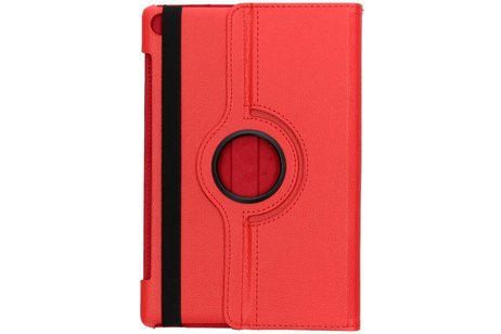360° Draaibare Bookcase voor Huawei MediaPad M5 (Pro) 10.8 inch - Rood