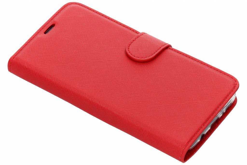Rode Saffiano booktype hoes voor de Samsung Galaxy S9 Plus