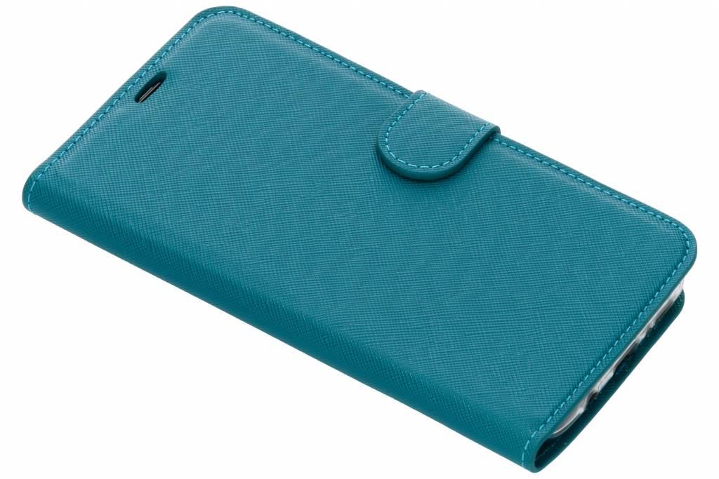 Turquoise Saffiano booktype hoes voor de Samsung Galaxy S9 Plus