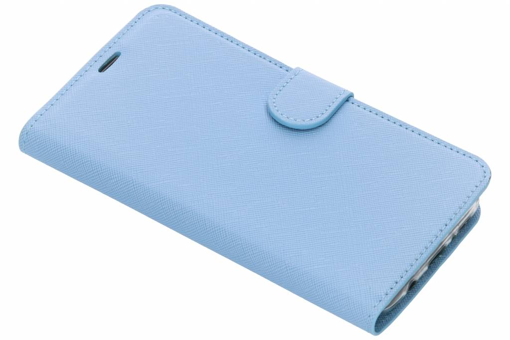 Lichtblauwe Saffiano booktype hoes voor de Samsung Galaxy S9 Plus