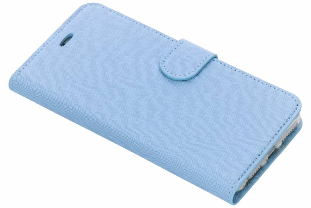 Lichtblauwe Saffiano booktype hoes voor de iPhone 8 Plus / 7 Plus / 6(s) Plus