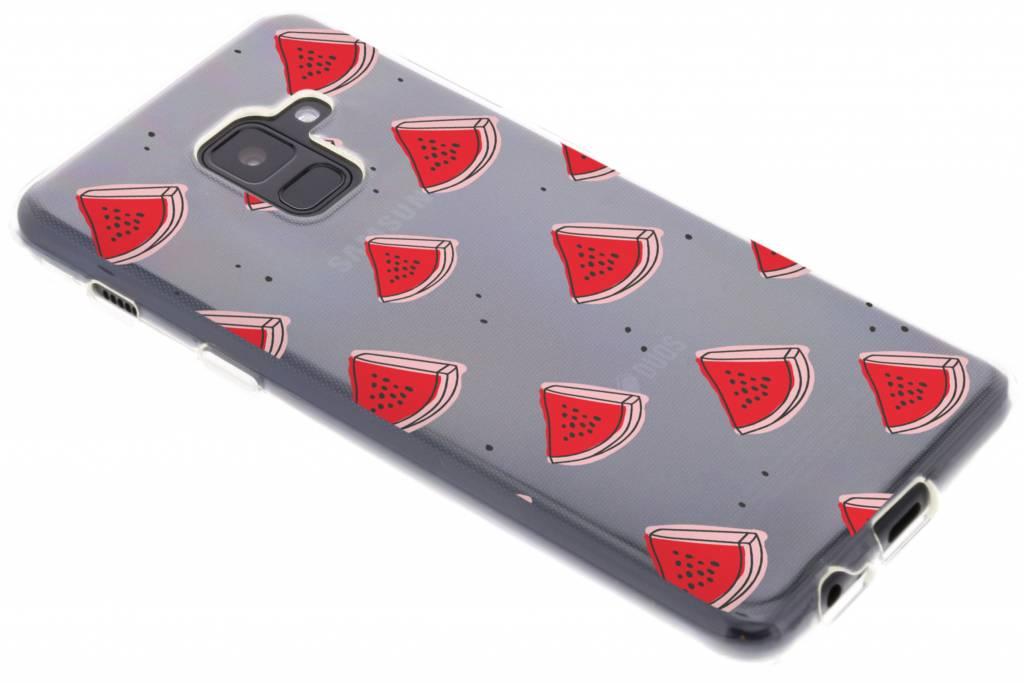 Watermelon design siliconen hoesje voor de Samsung Galaxy A8 (2018)