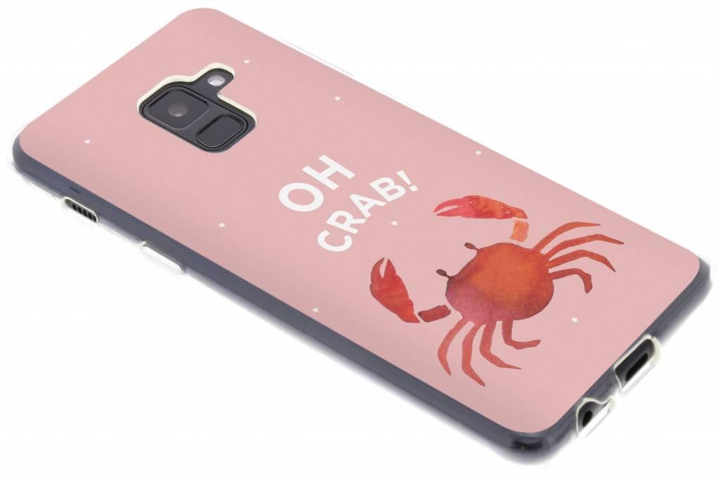 Oh Crab design siliconen hoesje voor de Samsung Galaxy A8 (2018)