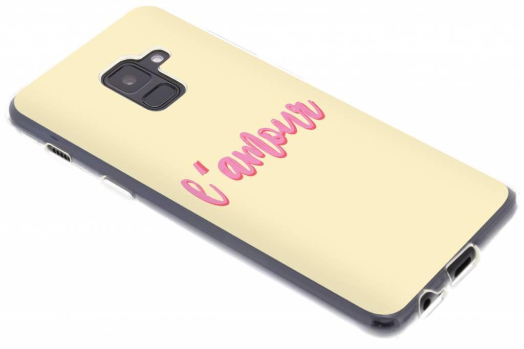 Lamour design siliconen hoesje voor de Samsung Galaxy A8 (2018)